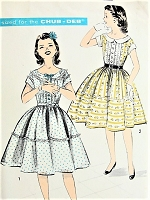 LOVELY 1950s Girls Party Dress Pattern ADVANCE 8630 Two Sweet Styles For The Chub Deb Size 10 Vintage Childrens Sewing Pattern FACTORY FOLDED