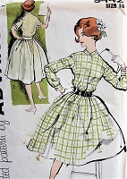 1950s VINTAGE Shirt Dress Advance 9442 Bust 36 Sewing Pattern