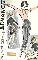 1960s FAB High Waist Slim Slacks Pants and Bermuda Shorts or Short Shorts Pattern ADVANCE 9491 Waist 31 Sew Easy Vintage Sewing Pattern FACTORY FOLDED