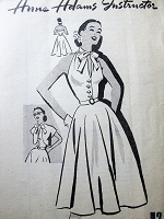 1950s Vintage GLAMOROUS Halter Dress with Bow Collar and Matching Jacket Anne Adams 4711 Sewing Pattern Bust 30