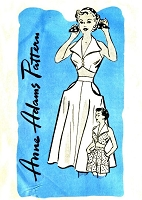 1950s  BOMBSHELL Midriff Top,Skirt and High Waist Shorts Pattern ANNE ADAMS 4745 Fab Rockabilly Beach Weekend Wear Bust 36 Vintage Sewing Pattern FACTORY FOLDED