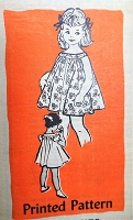1960s PRETTY Little Girls Dress Pattern ANNE ADAMS 4822 Sweet Tent Dress Sleeveless or Puff Sleeves and Panties Size 4 Childrens Vintage Sewing Pattern