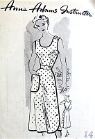 1950s CUTE Side Button Dress Pattern ANNE ADAMS 4832 Perfect Summer Dress Bust 32 Vintage Sewing Pattern FACTORY FOLDED
