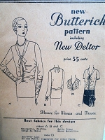 1920s FLAPPER Era Blouse Pattern BUTTERICK 3069 Beautiful Art Deco Overblouse Day or Evening, 4 Versions Bust 35 Vintage Sewing Pattern