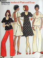 1970s BETSEY JOHNSON of Alley Cat Top Skirt and Pants Pattern BUTTERICK 3516 CUTE Styles Fast and Easy To Sew Bust 29 Vintage Sewing Pattern
