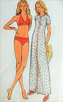 1970s CUTE Bikini and Cover-up Butterick 3716 Retro Vintage Sewing Pattern Bust 36