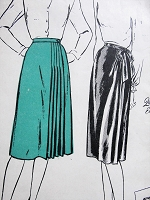 Vintage 1940s LOVELY Wraparound Skirt in Two Styles with Optional Pleats Butterick Sewing Pattern