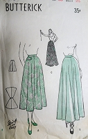 1940s FLATTERING Skirt Pattern BUTTERICK 4432 # lovely Lengths includes Ballet and Full Length Evening Waist 26 Quick and Easy Vintage Sewing Pattern