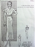 1930s ART DECO Design Dress Pattern BUTTERICK 4838 Two Fabulous Designs Bust 36 Vintage Sewing Pattern FACTORY FOLDED