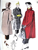 1940s STYLISH Coat and Hood Hat Pattern BUTTERICK 4990 Three Quarter Length Coat Make it in Fabric or Fur Fabric Bust 34 Vintage Sewing Pattern FACTORY FOLDED