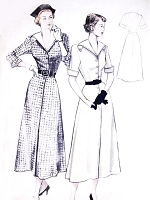 1950s FAB Front Button Dress Pattern BUTTERICK 5121 Lovely Design Bust 36 Vintage Sewing Pattern