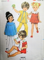 1960s SWEET Toddlers Dress, Pants and Shorts Pattern BUTTERICK 5521 Little Girls Size 2 Childrens Vintage Sewing Pattern