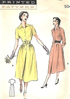 1950s Smart TAILORED Dress Pattern BUTTERICK 5662 Two Figure Flattering Versions Bust 34 Vintage Sewing Pattern FACTORY FOLDED