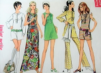 Vintage 1970s  COOL Dress, Mini Dress, Romper, Pantdress Butterick 5707 Retro Sewing Pattern Bust 31