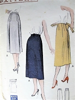 1950s SLEEK Slim Skirt Pattern BUTTERICK 5883 Quick n Easy Skirts Make in Two Hours 2 Styles Waist 28 Vintage Sewing Pattern FACTORY FOLDED