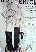 1930s STUNNING Art Deco Evening Gown Dinner Dress Pattern BUTTERICK 5911 Pure 30s Glamour Several Versions Bust 38 Vintage Sewing Pattern