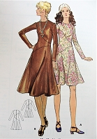 1970s Retro STYLISH Fitted Dress with Asymmetrical Bias Butterick 6047 Vintage Sewing Pattern Bust 32 1/2
