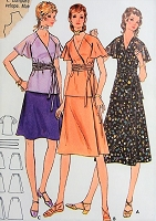 1970s CAREFREE Wrap Top with Belt and Wrap Skirt Butterick 6134 Bust 30 1/2 Retro Sewing Pattern
