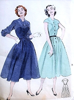 1950s PRETTY Dress Pattern BUTTERICK 6505 Front and Back Yoke, Day or Party Dress Bust 30 Vintage Sewing Pattern FACTORY FOLDED