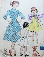 1950s AMAZING Easy To Sew Girls Jumper or Sundress Pattern BUTTERICK 6555 Pretty Jumper Sundress from One Main Pattern Piece Size 12 Childrens Vintage Sewing Pattern