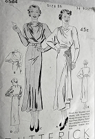 1930s GORGEOUS Evening Dress Pattern BUTTERICK 6564 Two Fabulous Designs, Amazing Styles Bust 34 Vintage Sewing Pattern