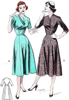 1950s CHIC Dress Pattern BUTTERICK 6866 Lovely Details, Figure Flattering Dress Bust 42 Vintage Sewing Pattern
