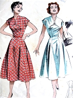 1950s FLATTERING Princess Dress Pattern BUTTERICK 6912 Figure Show Off Style Bust 30 Vintage Sewing Pattern