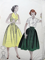 1950s Vintage CHIC Sleeveless Sundress and Jacket Butterick 6949 Sewing Pattern Bust 32