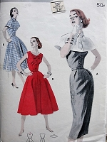 1950s Vintage ELEGANT Sleeveless Dress with Capelet Butterick 7690 Sewing Pattern Bust 32