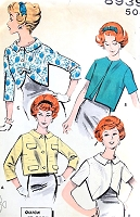 1950s  Jacket Wardrobe Pattern Butterick 8939 Four FAB Styles Day or Evening Bust 34 Quick n Easy Vintage Sewing Pattern FACTORY FOLDED
