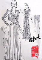 1930s GODDESS Evening Gown and Bolero Jacket Pattern BUTTERICK 8964 Stunning Design Bust 34 Vintage Sewing Pattern