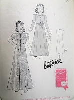 1940s  LOVELY Girls House Coat Pattern BUTTERICK 9105 Girls Princess Style Robe Size 8 Childrens Vintage Sewing Pattern FACTORY FOLDED