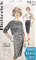 1960s VINTAGE Skirt and Jacket Butterick 9670 Bust 32 Vintage Sewing Pattern