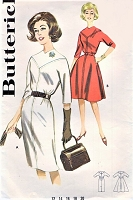 Early 60s MADMEN Style Slim or Flared Skirt Dress Pattern BUTTERICK 9895 Bust 32 Vintage Sewing Pattern UNCUT