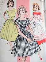 1960s LOVELY Dress Pattern BUTTERICK 9297 Wide Midriff Dress, 3 Neckline Versions Bust 34 Vintage Sewing Pattern