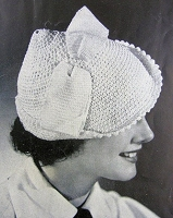 INSTANT PDF PATTERN 1930s Art Deco Little Crocheted Hat Vintage Crochet Pattern Vintage Knitting Pattern Downton Abbey