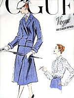 1950s CHIC Suit and Lovely Blouse Pattern VOGUE Couturier Design 902 Easy Elegance Bust 32 Vintage Sewing Pattern FACTORY FOLDED