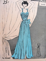 1940s GLAMOROUS Nightgown Pattern DUART Ladies Home Journal 2411 Amazing Design fit for an Evening Gown Size Small Vintage Sewing Pattern