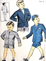 1940s CLASSIC Little Boys Short Pants SUIT or Sports Jacket Pattern DU BARRY 5572  Size 6 Adorable War Time WW II Childrens Vintage Sewing Pattern