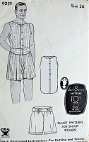 1930s GENTLEMENS Undershirt and Boxer Shorts Vintage Du Barry 902 Mens Sewing Pattern