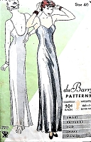 1930s Art Deco Slinky Slip Gown Pattern DuBARRY 994 NRA Beautiful Bias Cut Evening Length Makes Perfect Evening Dress Bust 40 Vintage Sewing Pattern