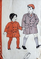 1930s ADORABLE Little Boys Coats and Leggings Pattern HOLLYWOOD 1896 Two Cute Styles Size 6 Vintage Childrens Sewing Pattern