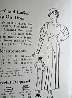 1930s ART DECO Dress Pattern Pattern Mail Order 1082 Gorgeous Sleeves Figure Flattering Design Bust 34 Vintage Sewing Pattern