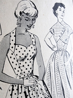 1950s BEAUTIFUL Halter Dress and Jacket Pattern Mail Order 2113 Lovely Flattering Design Sweetheart Neckline Bust 30 Vintage Sewing Pattern