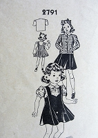 1940s Vintage SWEET Children's  Jumper, Blouse, and Jacket Sewing Pattern 2791 Chest 24