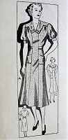 1930s LOVELY Dress in Two Styles with Pockets Mail Order Sewing Pattern 6688 Bust 48