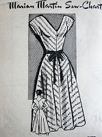1950s Vintage LOVELY V-Neck Dress Marian Martin 9097 Bust 34