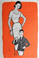 Vintage 1950s SOPHISTICATED Wiggle Dress and Jacket Marian Martin 9222 Sewing Pattern Bust 34