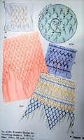 1940s BEAUTIFUL Smocking Designs Transfer Pattern McCALL 1233 Kaumagraph Smocked Designs  Adapatable To Different Widths Vintage Smock Craft Pattern