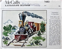1950s CROSS STITCH Train McCall's 1683 Vintage Transfer Craft Pattern